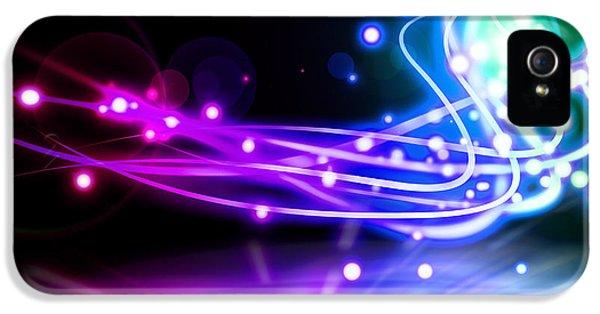 Futuristic iPhone 5 Cases - Dancing Lights iPhone 5 Case by Setsiri Silapasuwanchai