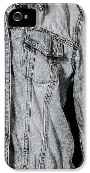 Jeans iPhone 5 Cases - Denim Jacket iPhone 5 Case by Joana Kruse