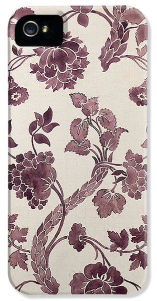 Arts And Crafts Movement iPhone 5 Cases - Design for a silk damask iPhone 5 Case by Anna Maria Garthwaite