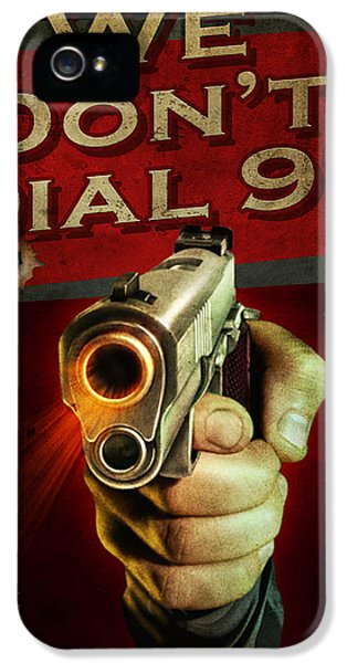Security iPhone 5 Cases - Dial 911 iPhone 5 Case by JQ Licensing