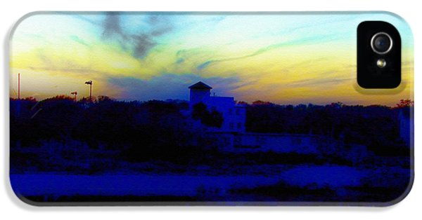 Dreamscape iPhone 5 Cases - Dreamscape Blue Water Sunset  iPhone 5 Case by Nada Frazier