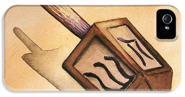 Hanukkah Card iPhone 5 Cases - Dreidle Dreidle iPhone 5 Case by Mary Kay Holladay