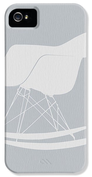 Chair iPhone 5 Cases - Eames Rocking Chair iPhone 5 Case by Naxart Studio