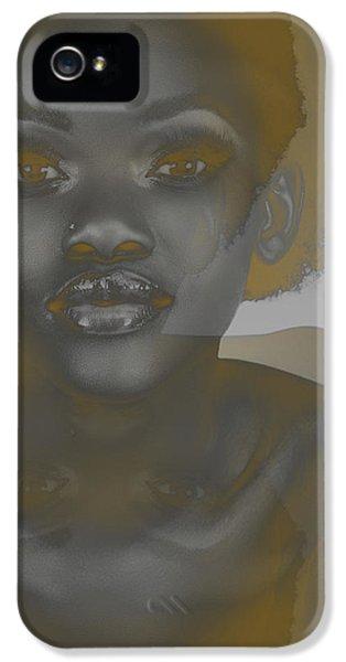 African iPhone 5 Cases - Ebony iPhone 5 Case by Naxart Studio
