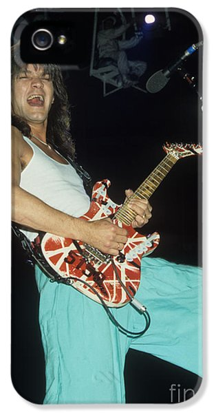 Edward iPhone 5 Cases - Edward Van Halen  iPhone 5 Case by Rich Fuscia