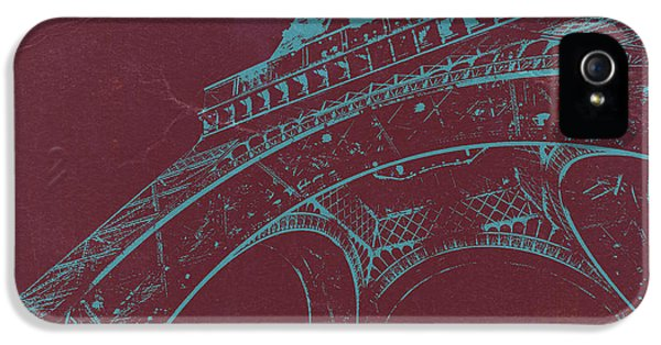 Arc iPhone 5 Cases - Eiffel Tower iPhone 5 Case by Naxart Studio