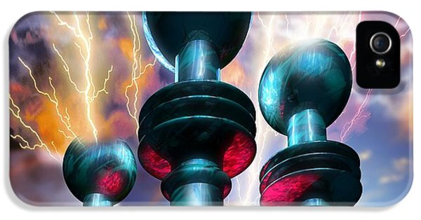Sparking iPhone 5 Cases - Electrical Generators iPhone 5 Case by Victor Habbick Visions