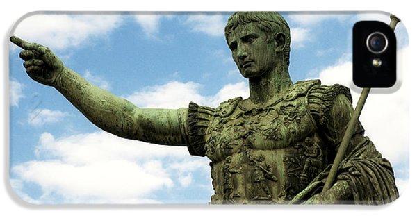 Bronze iPhone 5 Cases - Emperor Caesar Augustus iPhone 5 Case by Fabrizio Troiani