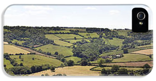 Agricultural iPhone 5 Cases - English countryside panorama iPhone 5 Case by Jane Rix