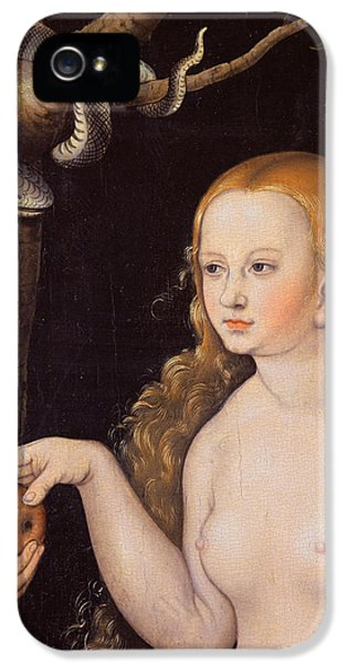 Eve Offering The Apple To Adam In The Garden Of Eden And The Serpent IPhone 5 / 5s Case by Cranach