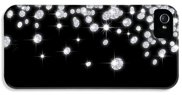 Background iPhone 5 Cases - Falling Diamonds iPhone 5 Case by Setsiri Silapasuwanchai