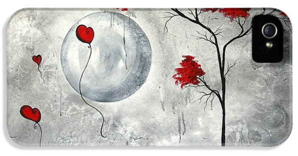 Gray iPhone 5 Cases - Far Side of the Moon by MADART iPhone 5 Case by Megan Duncanson