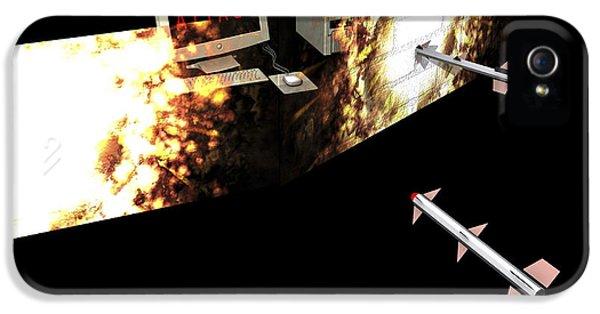 Firewall iPhone 5 Cases - Firewall, Conceptual Computer Artwork iPhone 5 Case by Christian Darkin