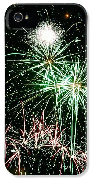 Firework iPhone 5 Cases - Fireworks 4 iPhone 5 Case by Michael Peychich