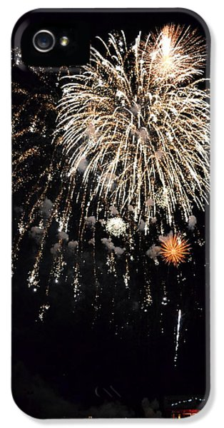 Fire Works iPhone 5 Cases - Fireworks iPhone 5 Case by Michelle Calkins