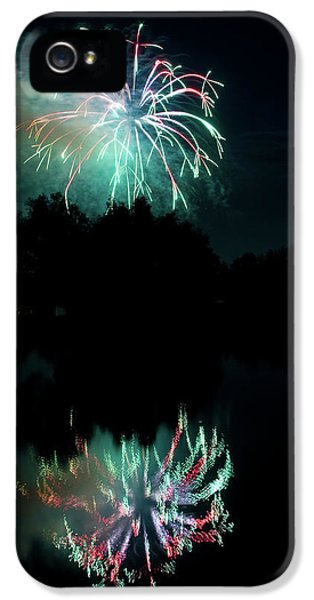 Fire Works iPhone 5 Cases - Fireworks on Golden Ponds. iPhone 5 Case by James BO  Insogna