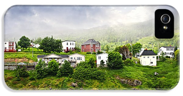 Newfoundland iPhone 5 Cases - Fishing village in Newfoundland iPhone 5 Case by Elena Elisseeva
