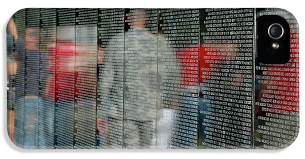 Vietnam Wall iPhone 5 Cases - For My Country iPhone 5 Case by Carolyn Marshall