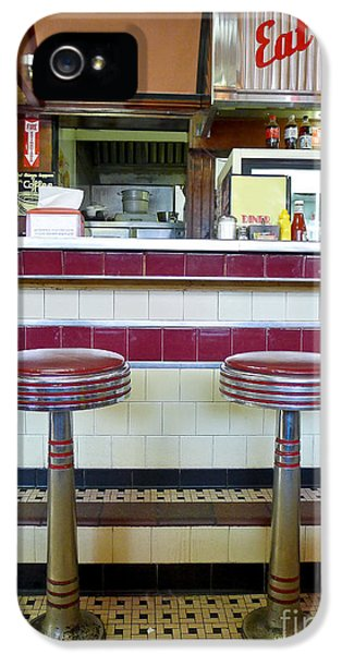 Stools iPhone 5 Cases - Four Aces Diner iPhone 5 Case by Edward Fielding
