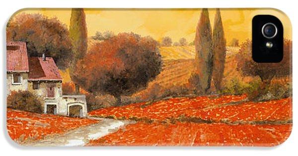 Landscapes iPhone 5 Cases - fuoco di Toscana iPhone 5 Case by Guido Borelli