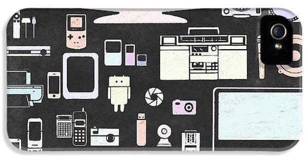 Electronic iPhone 5 Cases - Gadgets Icon iPhone 5 Case by Setsiri Silapasuwanchai