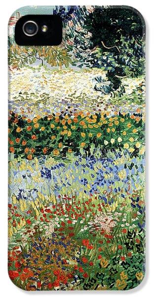 Garden iPhone 5 Cases - Garden in Bloom iPhone 5 Case by Vincent Van Gogh