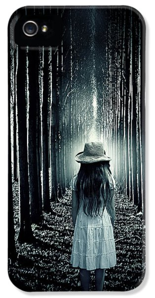 Thriller iPhone 5 Cases - Girl In The Forest iPhone 5 Case by Joana Kruse
