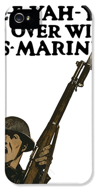 Marine Corps iPhone 5 Cases - Go Over With US Marines iPhone 5 Case by War Is Hell Store