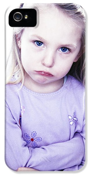 Scowl iPhone 5 Cases - Grumpy Girl iPhone 5 Case by Kevin Curtis