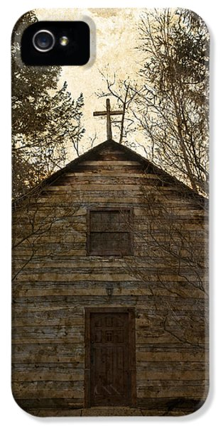 Grungy Hand Hewn Log Chapel IPhone 5 / 5s Case by John Stephens