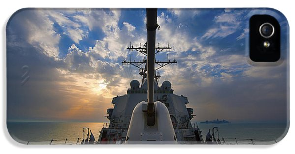 Caliber iPhone 5 Cases - Guided-missile Destroyer Uss Higgins iPhone 5 Case by Stocktrek Images