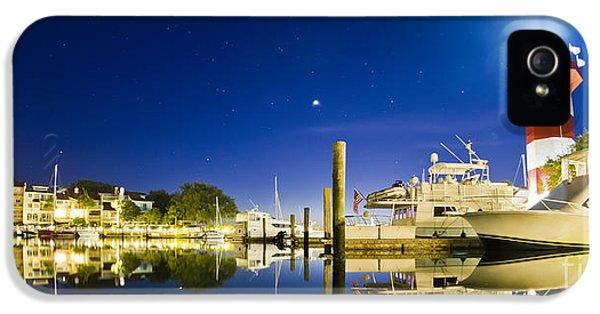 Harbor iPhone 5 Cases - Harbor Town Yacht Basin Light House Hilton Head South Carolina iPhone 5 Case by Dustin K Ryan