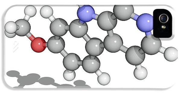 Alkaloid iPhone 5 Cases - Harmine Drug Molecule iPhone 5 Case by Laguna Design