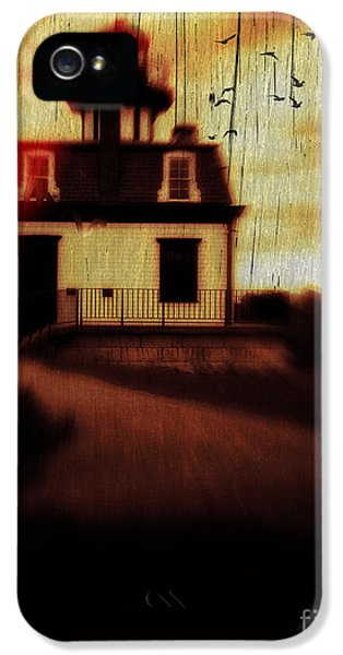 Haunted Houses iPhone 5 Cases - Haunted Lighthouse iPhone 5 Case by Edward Fielding