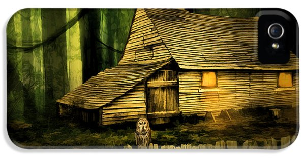Haunted Houses iPhone 5 Cases - Haunted Shack iPhone 5 Case by Lourry Legarde