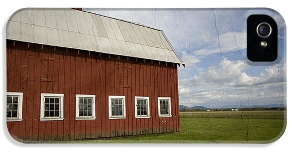 Farm iPhone 5 Cases - Historic Red Barn iPhone 5 Case by Bonnie Bruno