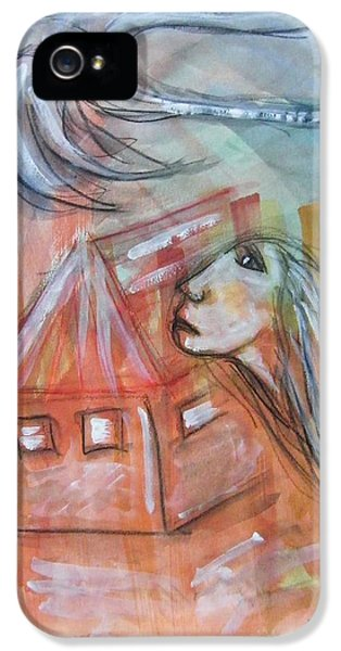 Roaming iPhone 5 Cases - House Without A Door - Haus Ohne Tuer iPhone 5 Case by Mimulux patricia no