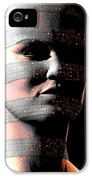 Cyborg iPhone 5 Cases - Human Cyborg iPhone 5 Case by Laguna Design