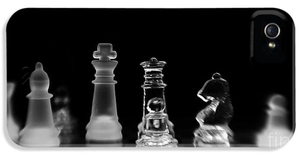 Chess Board iPhone 5 Cases - Hunt For The King iPhone 5 Case by Priska Wettstein