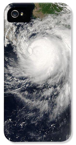 Ignacio iPhone 5 Cases - Hurricane Ignacio iPhone 5 Case by Stocktrek Images