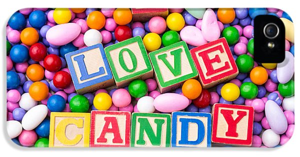 Candy iPhone 5 Cases - I Love Candy iPhone 5 Case by Edward Fielding