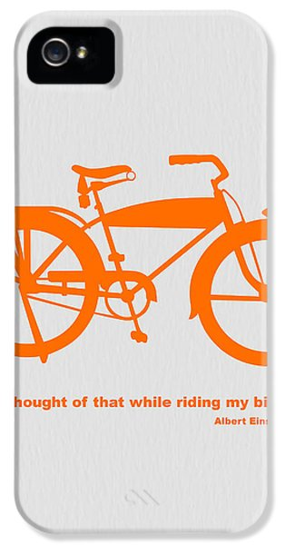 Speed iPhone 5 Cases - I Thought Of That While Riding My Bike iPhone 5 Case by Naxart Studio