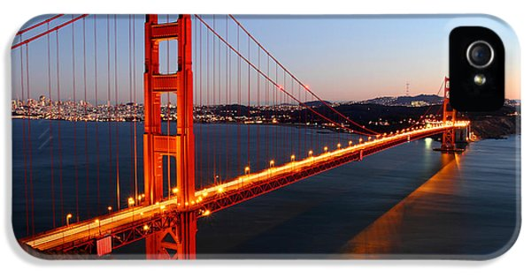 Reflection iPhone 5 Cases - Iconic Golden Gate Bridge in San Francisco iPhone 5 Case by Pierre Leclerc Photography