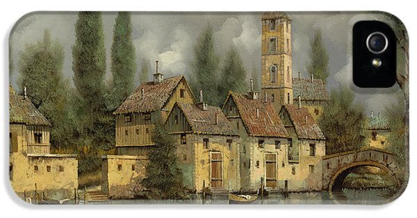 Landscapes iPhone 5 Cases - Il Borgo Sul Fiume iPhone 5 Case by Guido Borelli