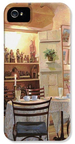 Chair iPhone 5 Cases - Il Caffe Dellarmadio iPhone 5 Case by Guido Borelli