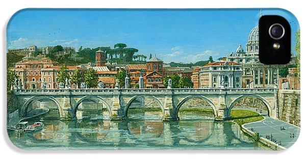 Il Fiumi Tevere Roma IPhone 5 / 5s Case by Richard Harpum