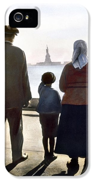 Statue Photographs iPhone 5 Cases - Immigrants: Ellis Island iPhone 5 Case by Granger