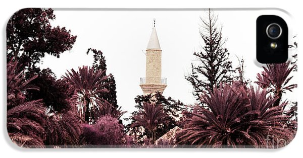 Arab iPhone 5 Cases - infrared Hala Sultan Tekke iPhone 5 Case by Stylianos Kleanthous