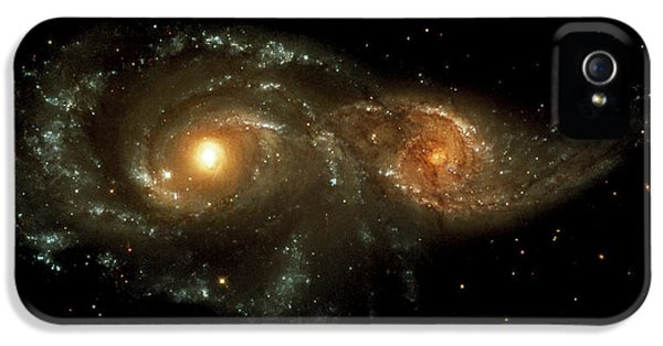 Astrophysics iPhone 5 Cases - Interacting Galaxies iPhone 5 Case by Nasaesastscihubble Heritage Team