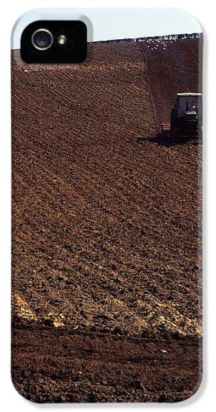 Prepper iPhone 5 Cases - Ireland Tractor Tilling A Field iPhone 5 Case by The Irish Image Collection